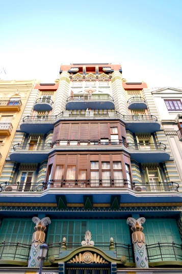 Note the interesting architecture of Valencia as you wander the streets