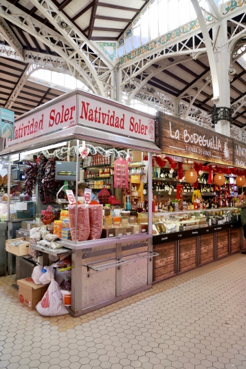 The stalls at Mercat Central