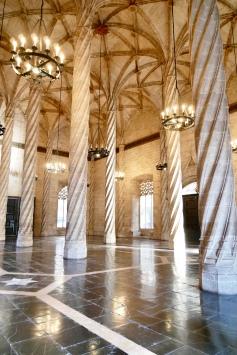The Contract Hall inside La Lonja de la Seda palace