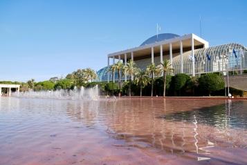 Palau de la Música as seen from Turia Park