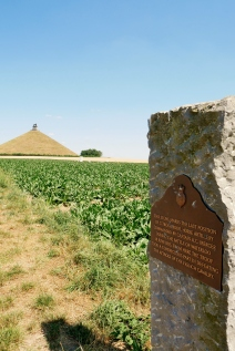 The Lion's Mound commemorates the location on the battlefield of Waterloo