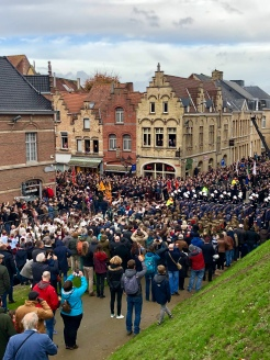 Ypres in Flanders, Belgium in 2018 for the 100th anniversary of the end of the first world war at the 11th hour of the 11th day of the 11th month