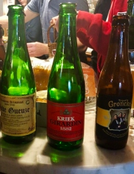 A selection of Belgian beers