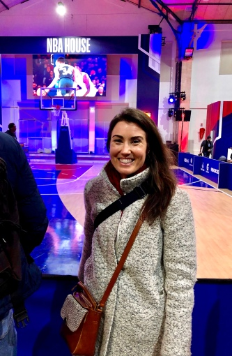 Kaitlan at the NBA House