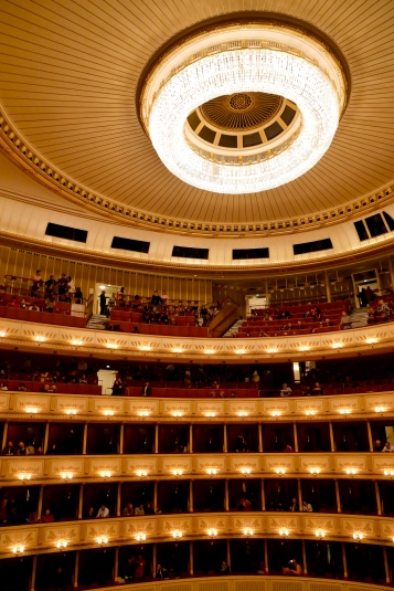 Vienna State Opera House Theater with standing room at the top