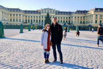 In front of the Schönbrunn Palace