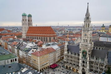 Munich city view from St. Peter's Church