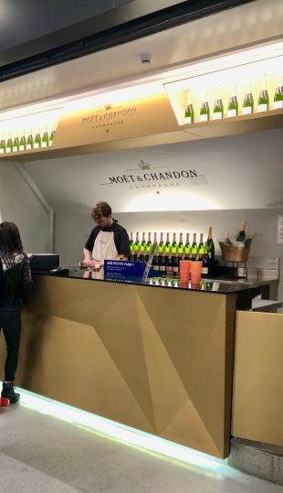 Classy champagne at the arena