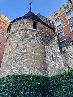 Black Tower in Brussels - Part of the first fortifications of Brussels built at the start of the 13th century