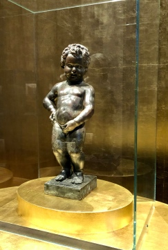 Commissioned in 1619, this is the original Manneken-Pis statue that is on display at the Museum of the City of Brussels