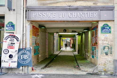 The Passage du Chantier in the 12th Arrondissement is a charming alleyway home to a number of furniture dealers