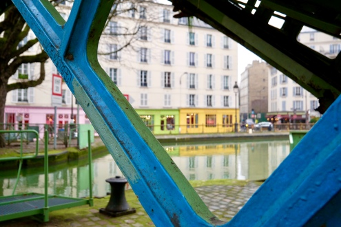 The Canal Saint-Martin area of the 11th Arrondissement