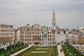 Brussels Mont des Arts neighborhood