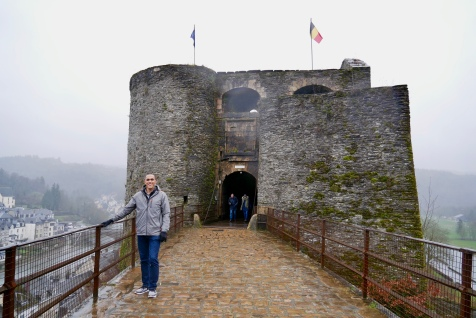 The gated Castle of Bouillon entrance