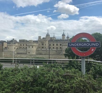 "The famous Underground ""Tube"" of London"