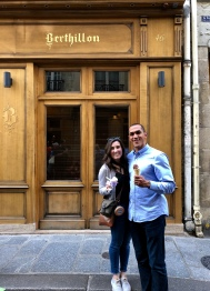 Berthillon serves premium ice cream on Île Saint-Louis, not far from Notre-Dame