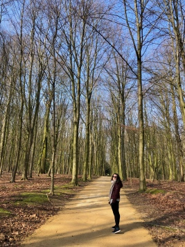 Enjoying the sun in Bois de la Cambre