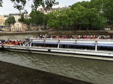 A (very crowded) Seine River sightseeing cruise