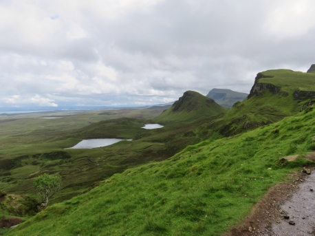 Views of the Scottish Highlands from the single lane roads