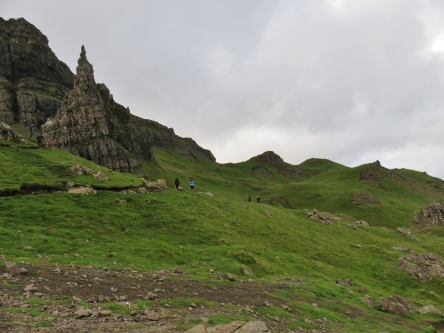The hike to Old Man of Storr