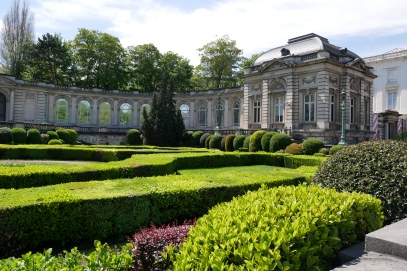 The grounds of the Royal Palace of Brussels in spring