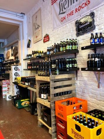Selecting our Belgian beer