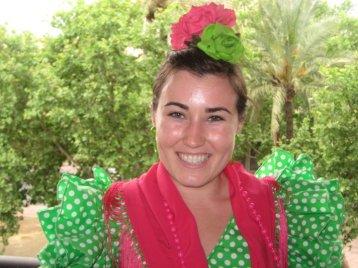 Kaitlan in Flamenco attire for the Feria de Abril (2011)