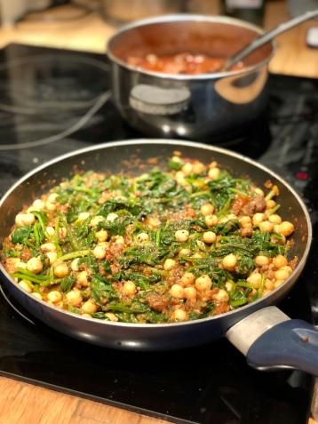 Espinacas con garbanzos ready to eat