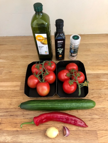 Gazpacho doesn't require many ingredients