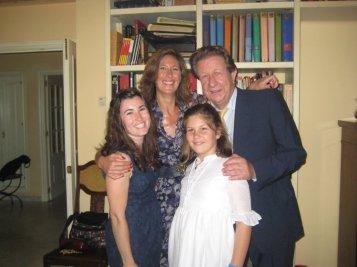 Kaitlan and her host family in Sevilla (2011)