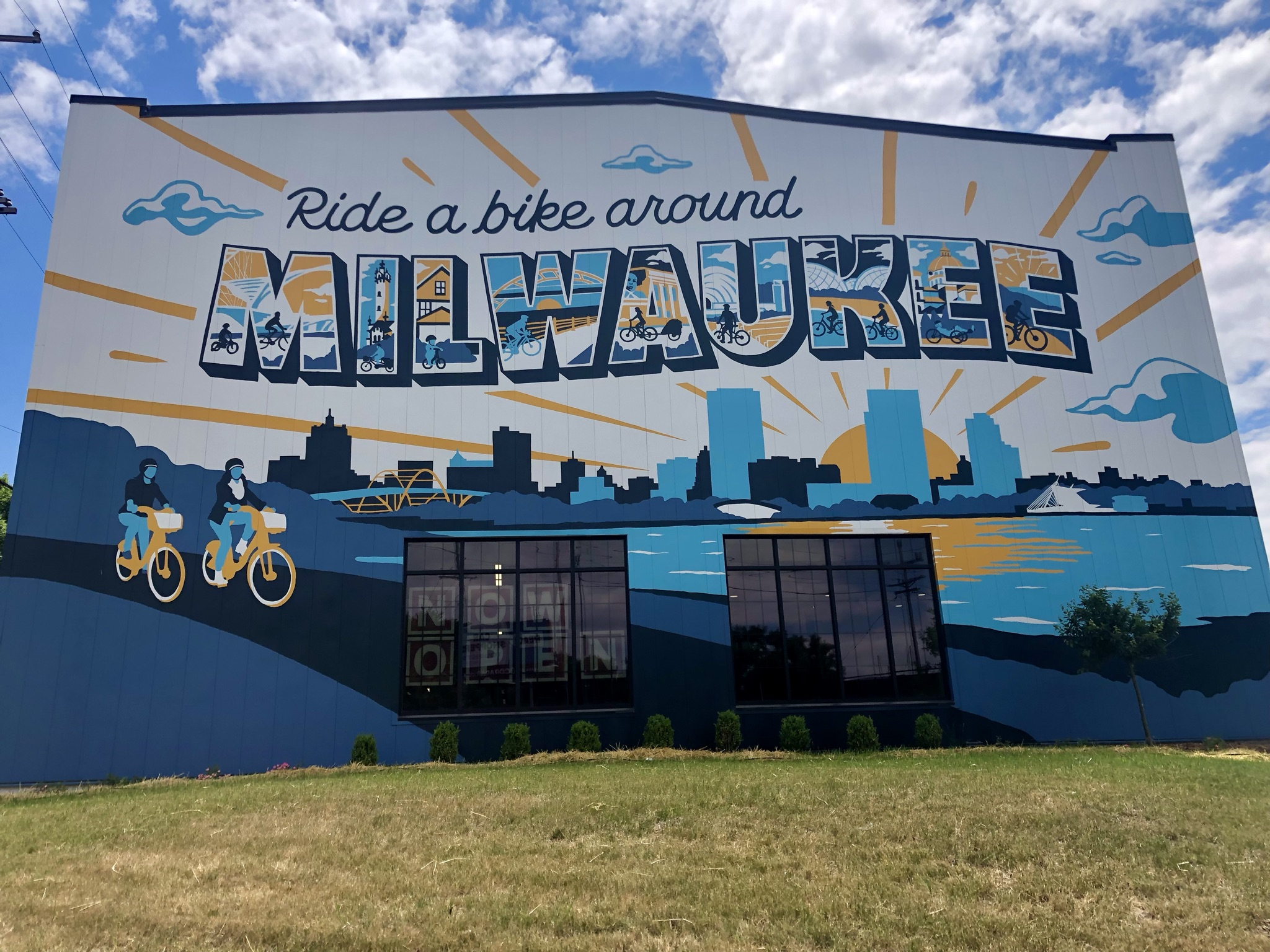 Ride a bike around Milwaukee