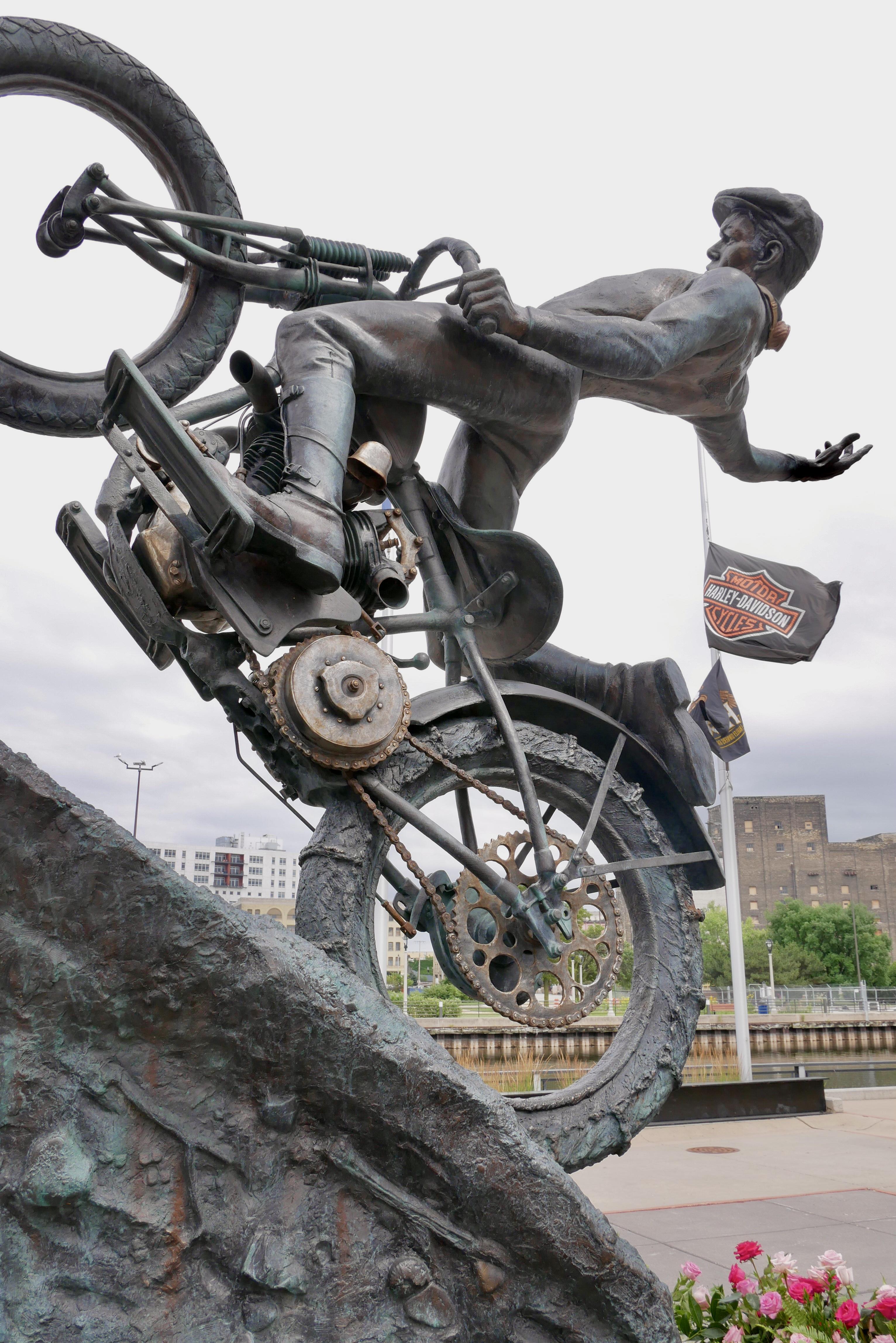 Harley Davidson Museum statue