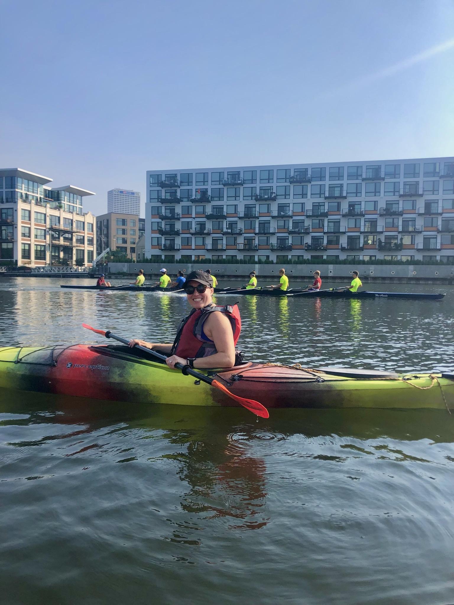 Kayaking on the Milwaukee River