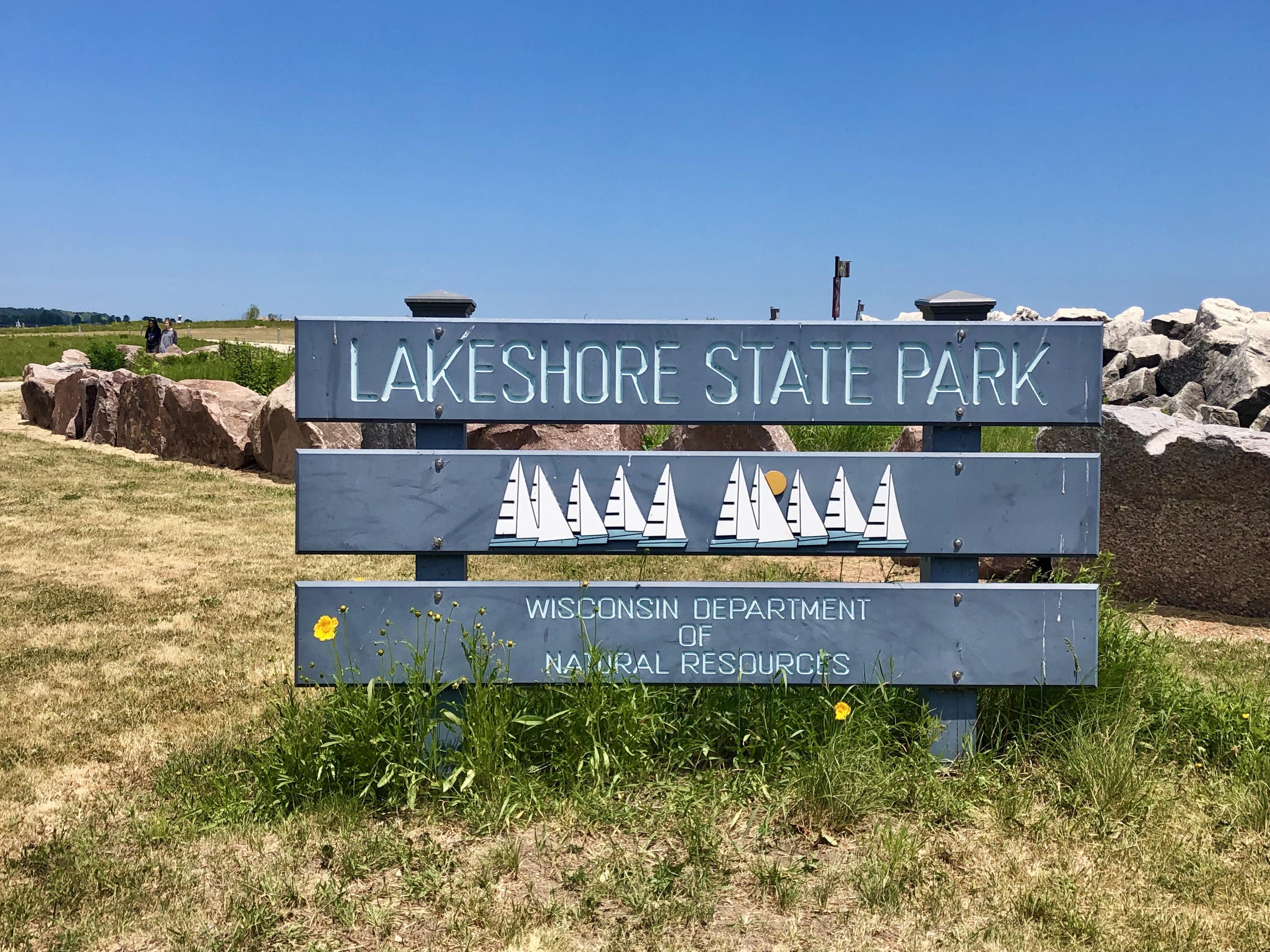 Lakeshore State Park has great views of the Milwaukee skyline